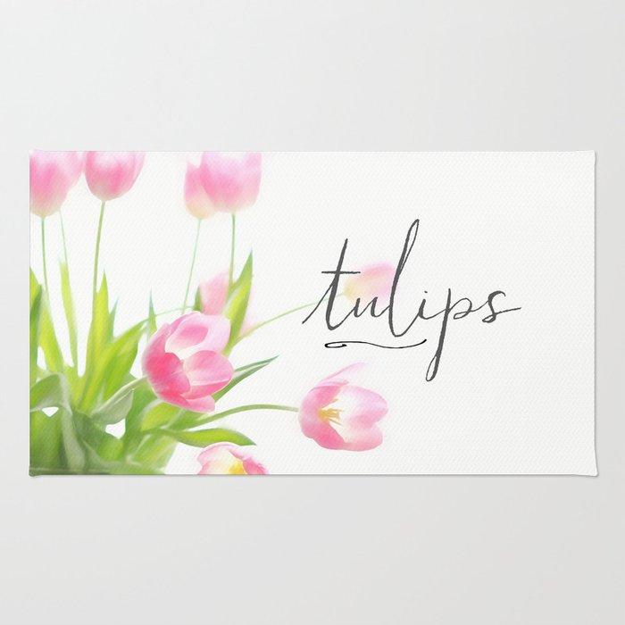 Pink tulips Rug