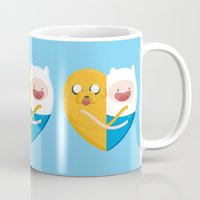 best friends Mugs featuring Best friends  by Manfred Maroto