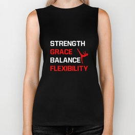 Strength Grace Balance Flexibility Gymnastics T-Shirt Biker Tank