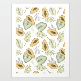 Papaya Jungle Art Print