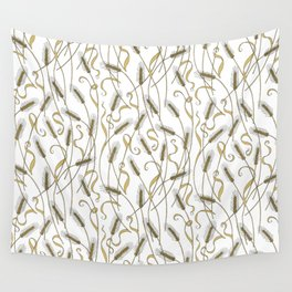 Art Nouveau - Scattered Wheat Wall Tapestry