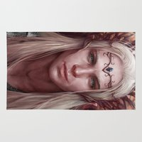 thranduil Area & Throw Rugs featuring Thranduil Portrait by Jay Lockwood Carpenter