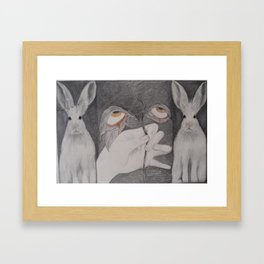 Lave: Saint Luce and rabbits Framed Art Print