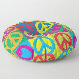 Pop Art Peace Symbols Floor Pillow