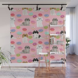 Pekingese dog breed dog pattern pet portraits donut food dog breeds pet friendly Wall Mural