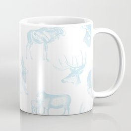 Woodland Critters in Winter Blue Coffee Mug