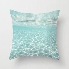 Under Water Light Throw Pillow