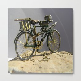 Old bicycle Zvonekmakete Metal Print