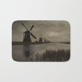 Windmills at Kinderdijk Holland Bath Mat