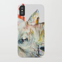 party iPhone & iPod Cases featuring Rhino's Party by Brandon Keehner