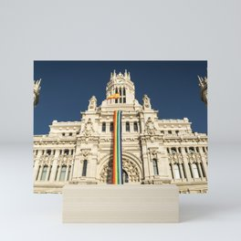 Building With LGBT Pride Flag Mini Art Print