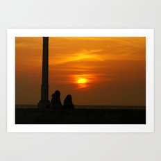 Romancing the Sunset Art Print