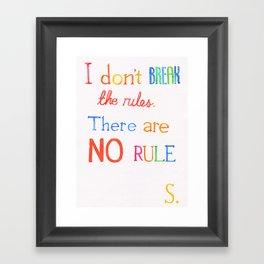 JUDAS (The Rules) Framed Art Print