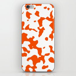 Large Spots - White and Dark Orange iPhone Skin