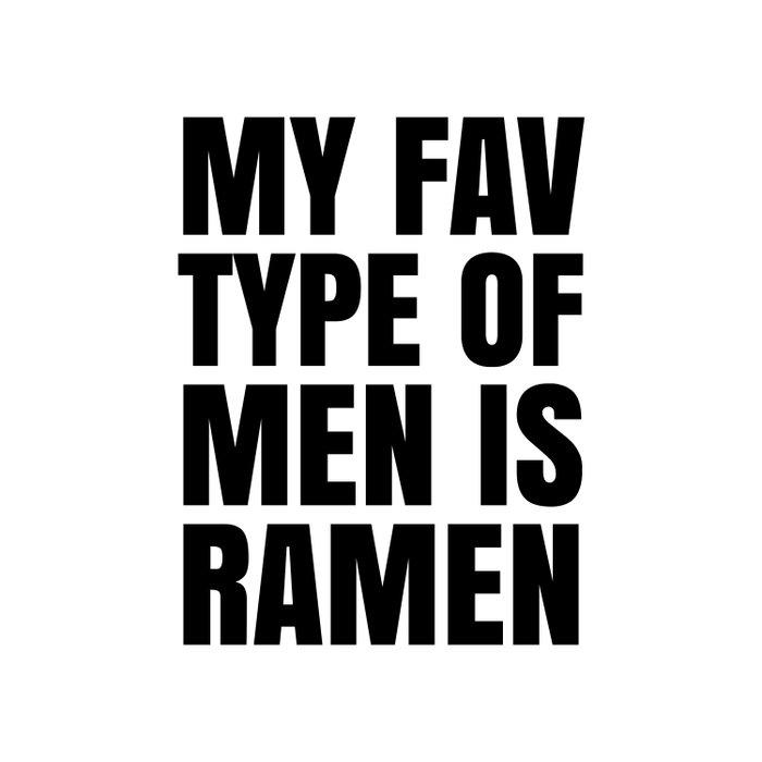 My Fav Type of Men is Ramen Duvet Cover