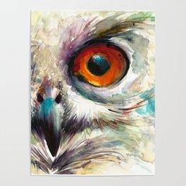 OWL EYE Watercolor Poster