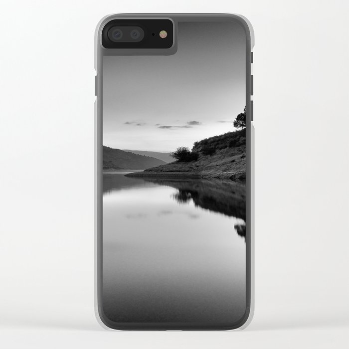 Forest Reflection Bw Clear iPhone Case