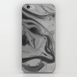 Black and grey marble iPhone Skin