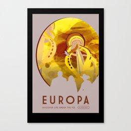Europa - NASA Space Travel Poster (Alternative) Canvas Print