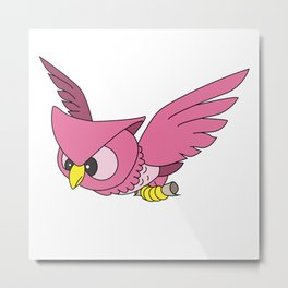Delivery by Owl Metal Print