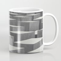 andreas preis Mugs featuring Blocks by Andreas Lie