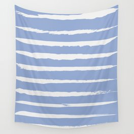 Irregular Hand Painted Stripes Light Blue Wall Tapestry