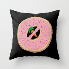 Donot Donut Throw Pillow