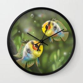 German Blue Rams Wall Clock