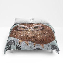 Painted Owl Comforters