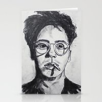 robert downey jr Stationery Cards featuring Robert Downey Jr. by Haley Erin