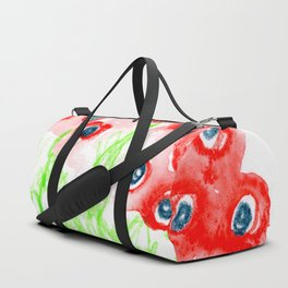 blue poppies Duffle Bag