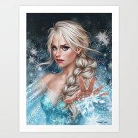 elsa Art Prints featuring Elsa by Fernanda Suarez