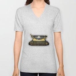 corona vintage typewriter Unisex V-Neck