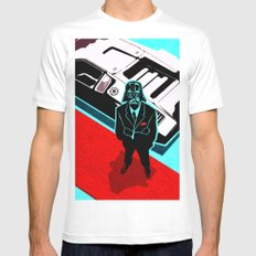 Darth Lambo White MEDIUM Mens Fitted Tee