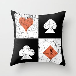 Playing Poker Card Games Online Casino Throw Pillow