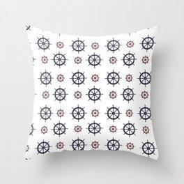 Nautical Helms Throw Pillow