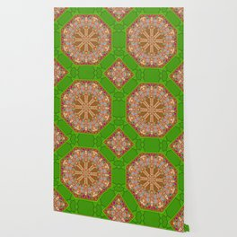 sweet crackers with chocolate mandala Wallpaper