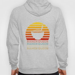 Ramen Queen Japanese Noodles Vintage Retro Style Japan Hoody
