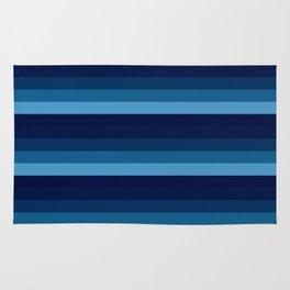 teal blue stripes Rug