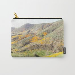 Poppy Super Bloom Vintage Fade Carry-All Pouch