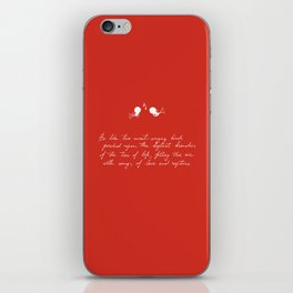 Be Like Two Sweet-Singing Birds [Red] iPhone Skin
