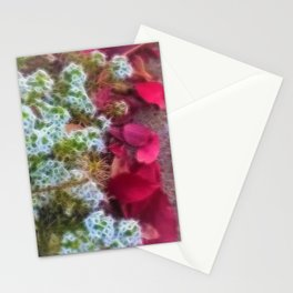 Fall sidewalk Leaves in Kenosha Stationery Cards