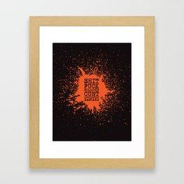 BOLD WORDS Framed Art Print