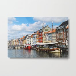 Nyhaven Canal Metal Print