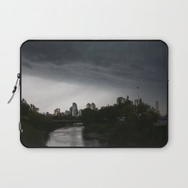 Storm clouds over Calgary and the Stampede grounds Laptop Sleeve