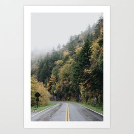 Somewhere In The Mountains Art Print