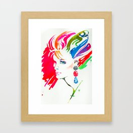 Bejewelled Framed Art Print