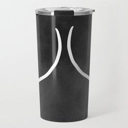 minimalist boobs Travel Mug
