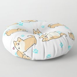 I love corgis Floor Pillow