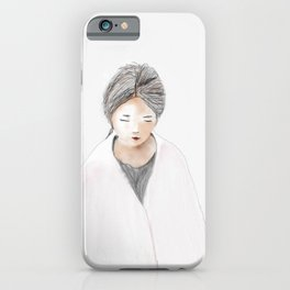KAORI watercolor iPhone Case